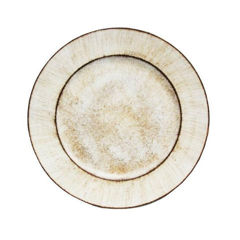Ivory Rustic Melamine Charger