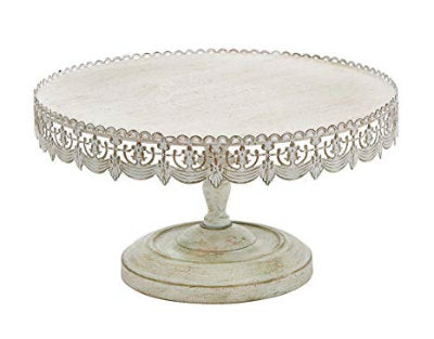 White Laser Cut Cake Stand