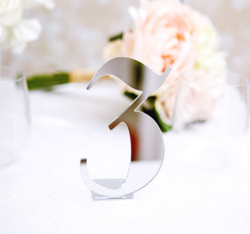 Mirrored Laurana Table Numbers