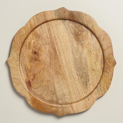 Scalloped Wood Charger