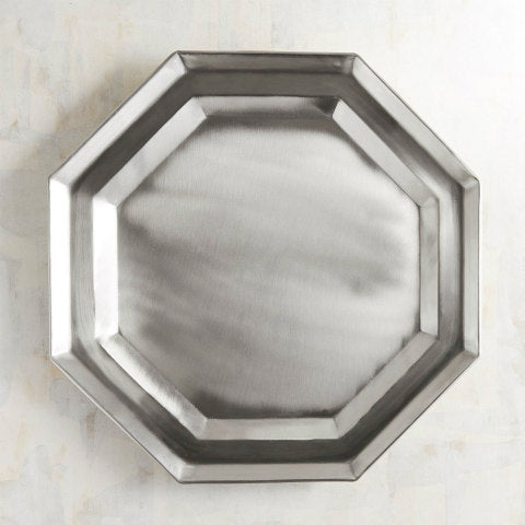 Silver Metal Octagon Charger