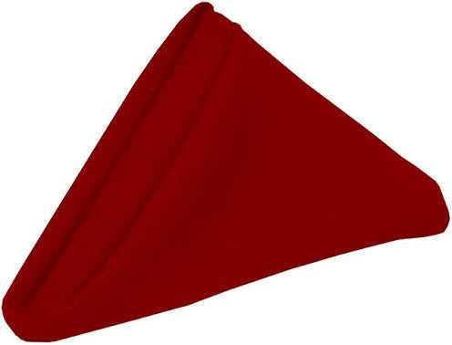 Deep Red Poly Napkin