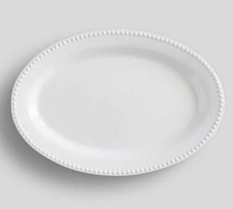 White Ceramic Oval Tray