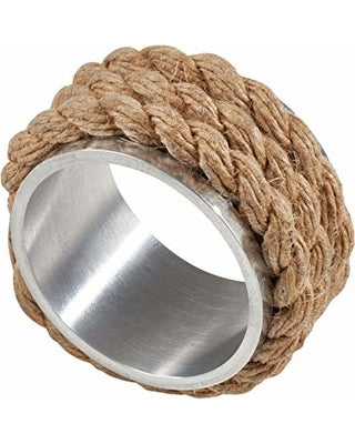 Jute/Metal Napkin Ring