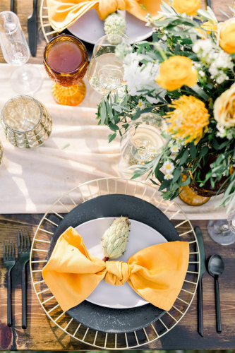 Golden Yellow Linen Napkin