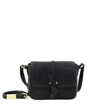 COCONUT ISLAND LIBERATED LEATHER CROSSBODY IN BLACK