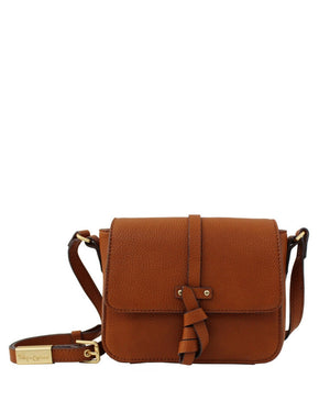 COCONUT ISLAND LIBERATED LEATHER CROSSBODY IN COGNAC