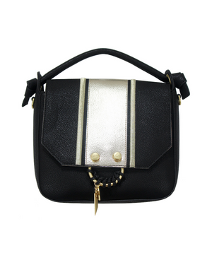 Reese Satchel in Black Stripe