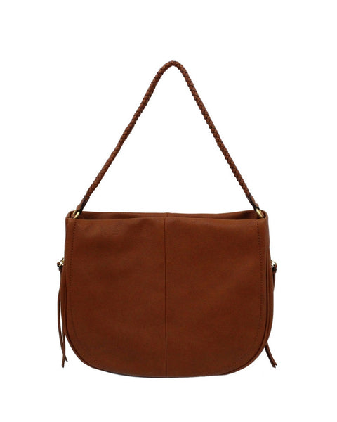 COCONUT ISLAND LIBERATED LEATHER HOBO IN COGNAC
