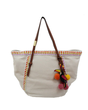 Coconut Island Beach Tote in Orange
