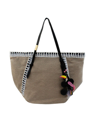 Coconut Island Beach Tote in Black