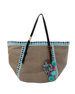 Coconut Island Beach Tote in Aqua