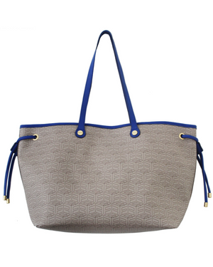 Color Splash Tote in Blue & FC Signature