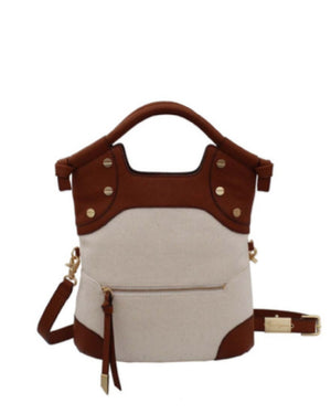 Coconut Island FC Lady Tote in Cognac Canvas