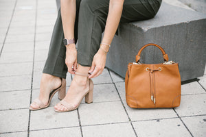 Devon Square Satchel in Cognac