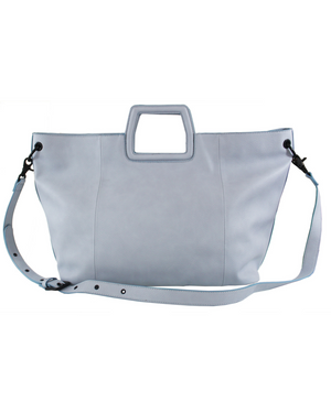 Tate Tote in Poplin Blue