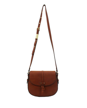 Coconut Island Saddle Bag in Cognac