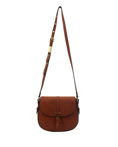 COCONUT ISLAND LIBERATED LEATHER SADDLE IN COGNAC