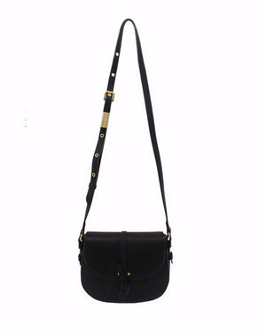Coconut Island Saddle Bag in Black