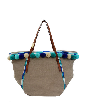 Coconut Island Beach Tote in Blue