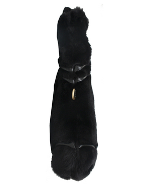 FC Lady Tote in Black Fur