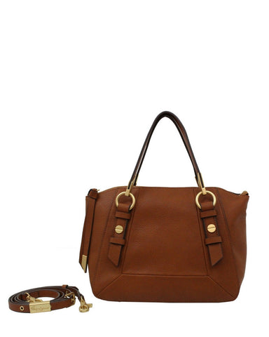 COCONUT ISLAND LIBERATED LEATHER SATCHEL IN COGNAC