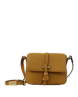 COCONUT ISLAND LIBERATED LEATHER CROSSBODY IN MUSTARD