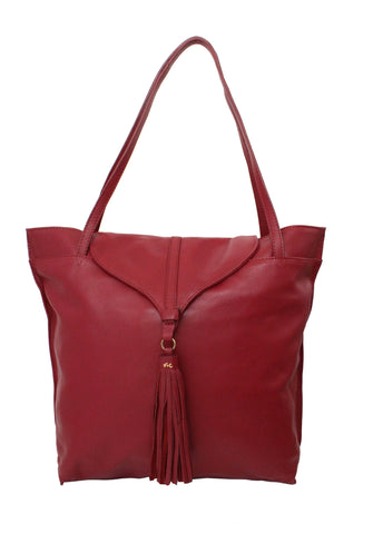 ARROW TOTE IN RUBY