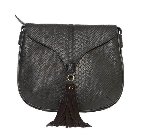 ARROW CROSSBODY IN BLACK PYTHON