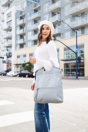 Mid City Tote in Misty Grey