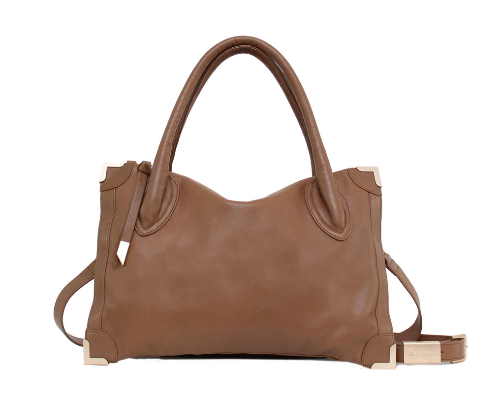FC FRANKIE SATCHEL IN CHESTNUT