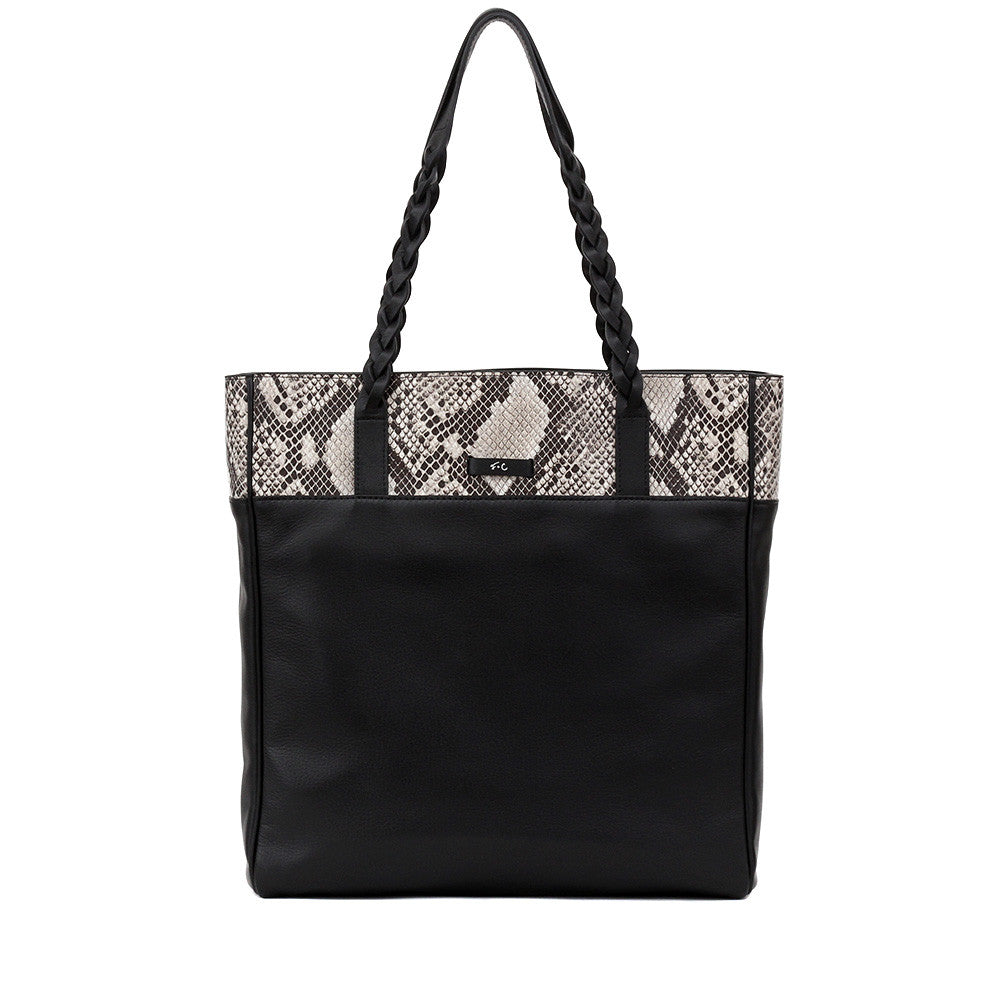 FC CABLE TOTE DIAMOND SNAKE COMBO IN BLACK AND WHITE
