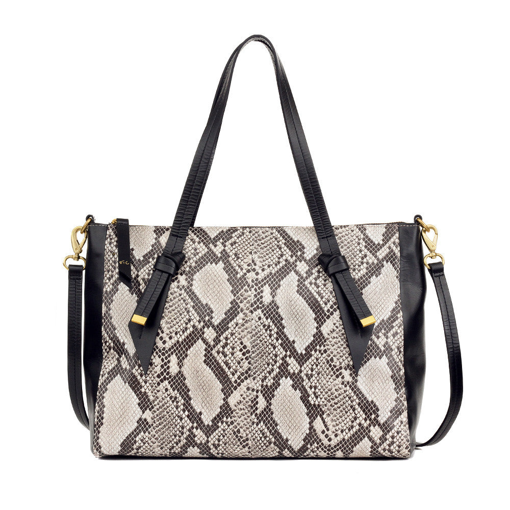 FC BANDEAU SATCHEL IN DIAMOND SNAKE COMBO