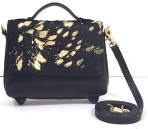 Gigi Crossbody in Gold Flecked Haircalf