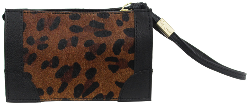 FC FRAMED WRISTLET POUCH IN LEOPARDO
