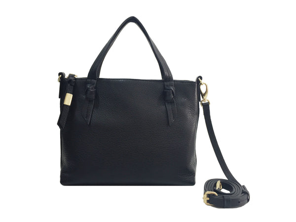 FC EMERALD SATCHEL IN JET BLACK