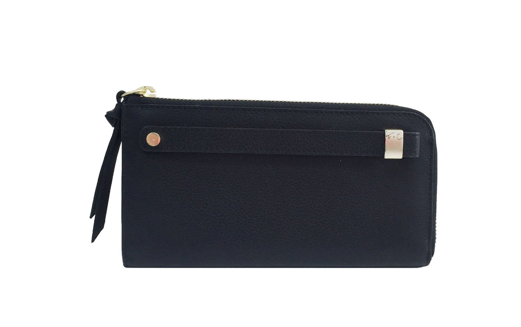 FC SLG PRINCESS CUT WALLET IN JET BLACK