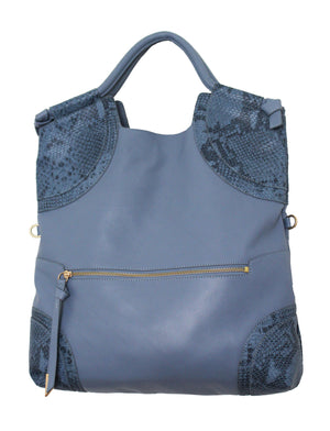 Cerberus City Tote in Azul Snake