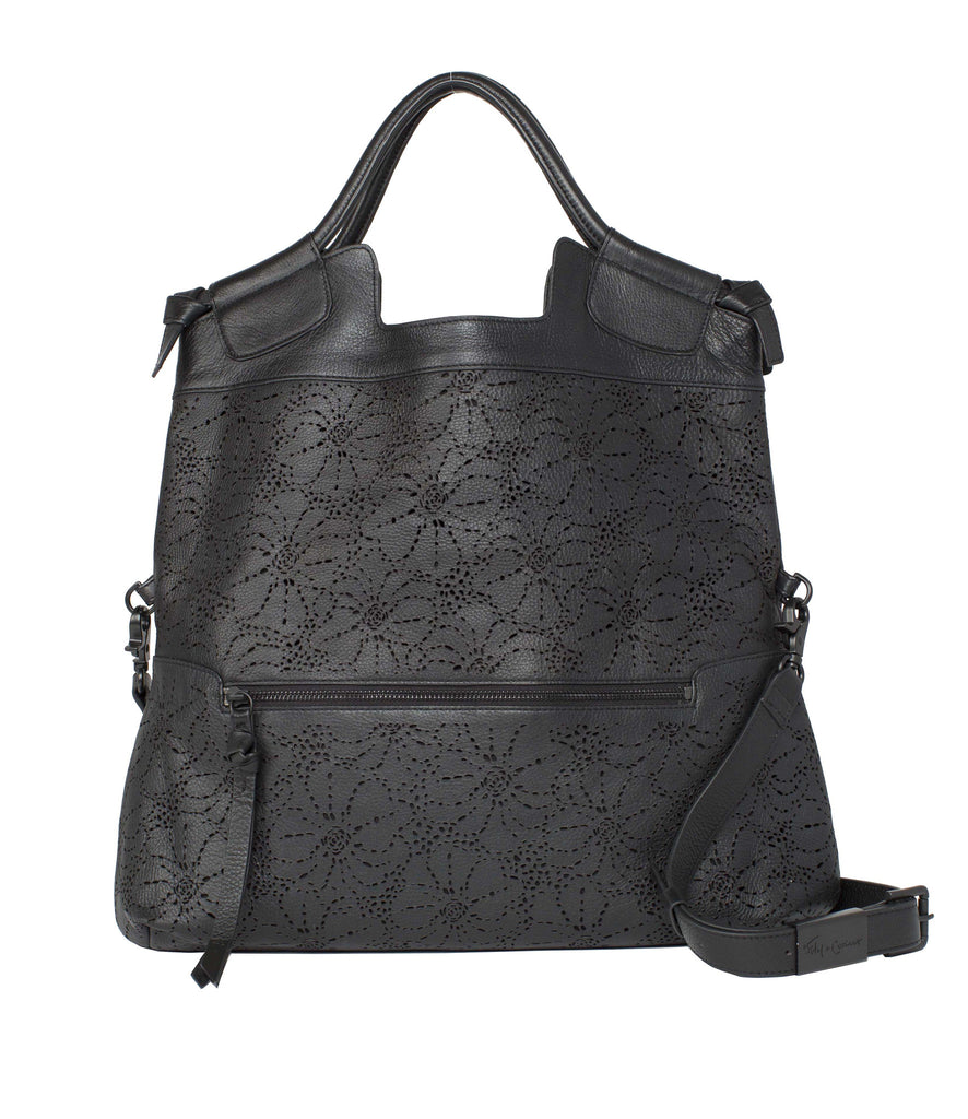 HIBISCUS CITY TOTE IN BLACK PERF