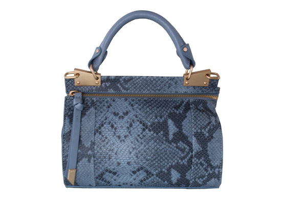 DIONE CERB MINI MESSENGER IN AZUL SNAKE