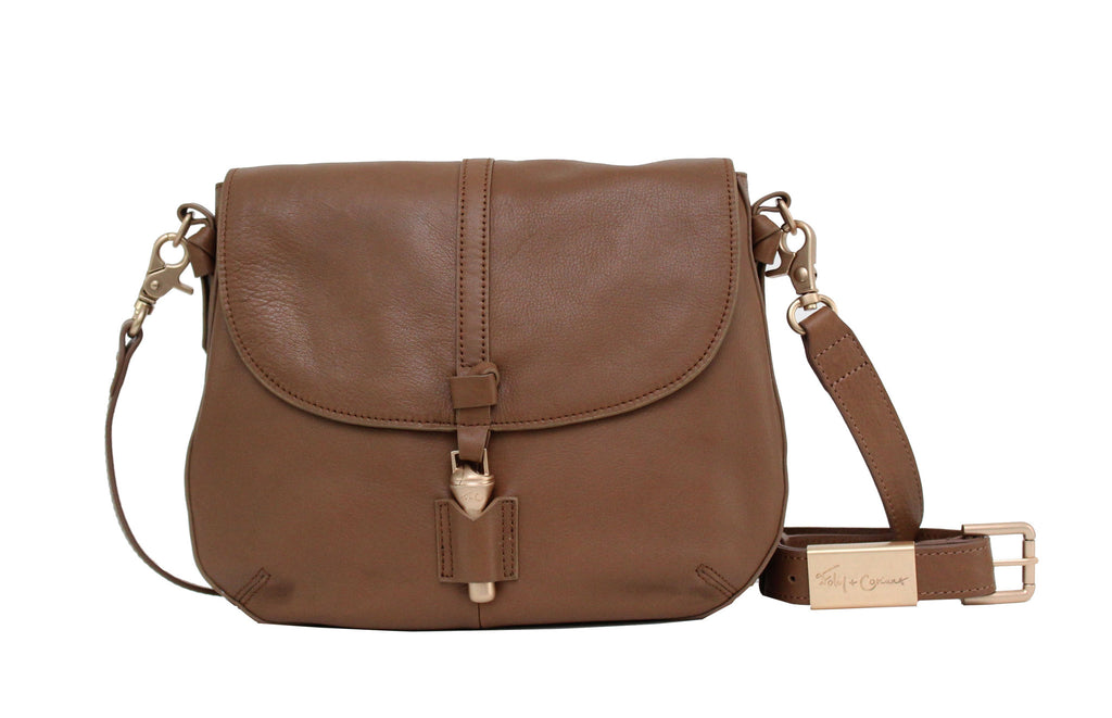 MIA SADDLE BAG IN CHESTNUT