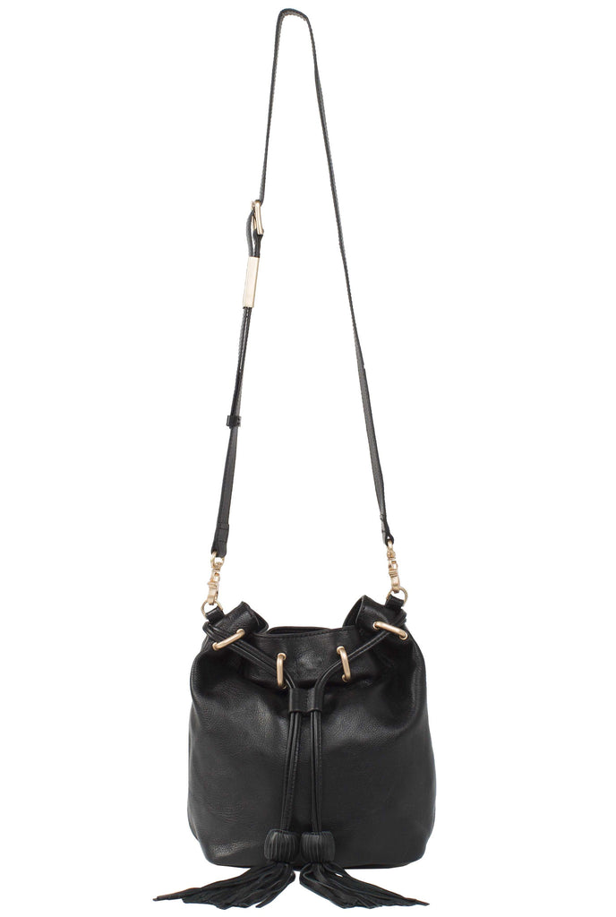 SASHA DRAWSTRING BUCKET IN BLACK