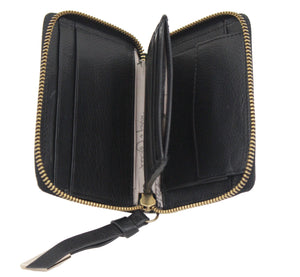 Square Cut Wallet in Black
