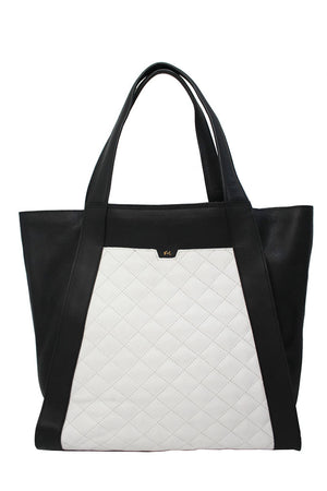 Cushion Tote in Black & White