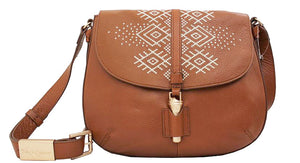 Zamora Saddle Bag in Honey Brown