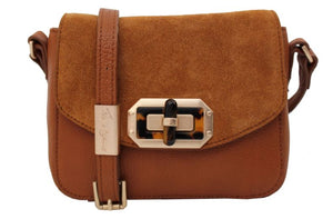 Whitney Crossbody in Honey Brown