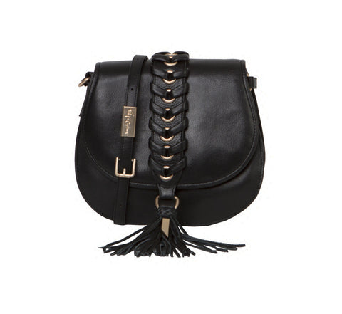 LA TRENZA SADDLE BAG IN BLACK