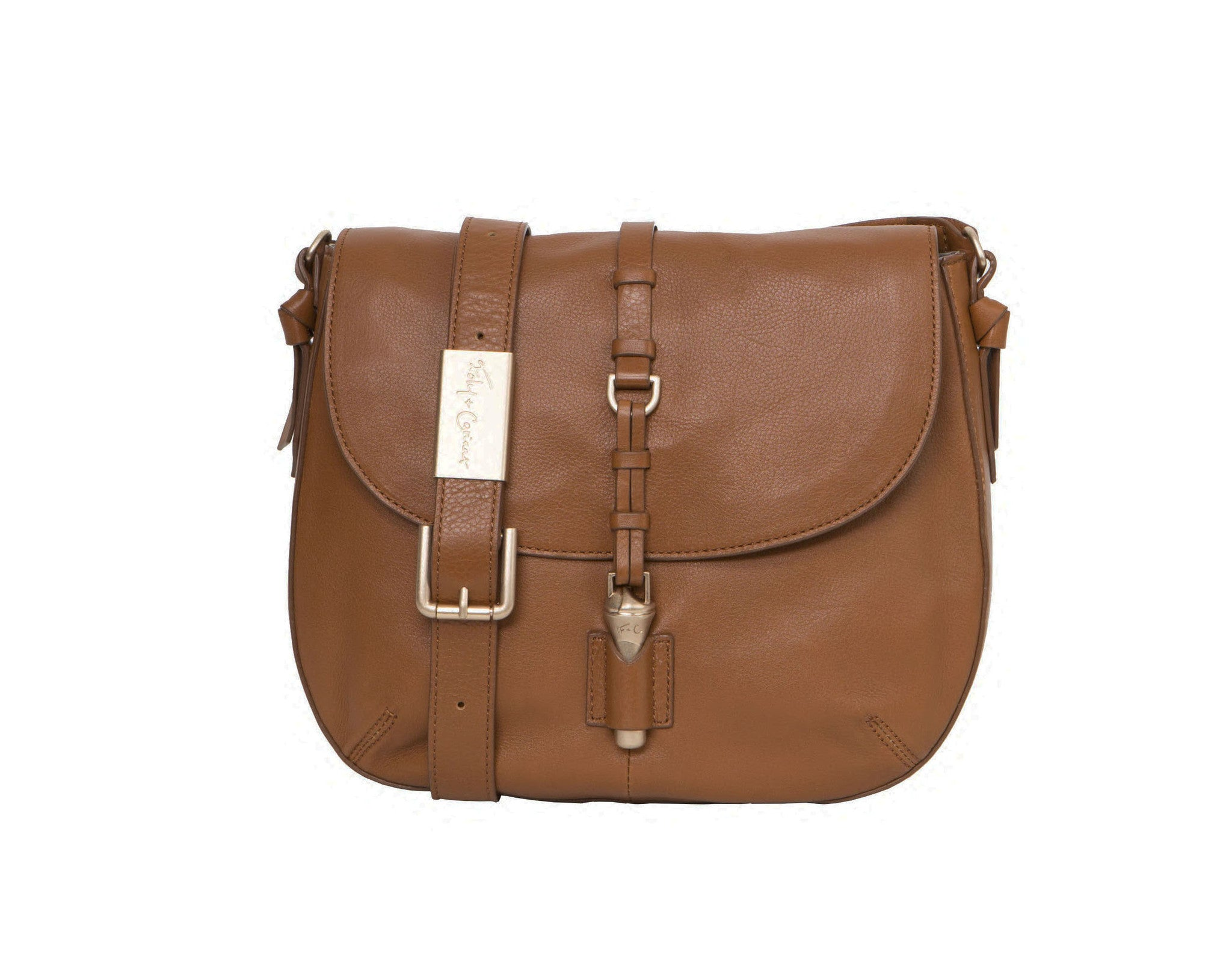 LEA SADDLE BAG IN HONEY BROWN