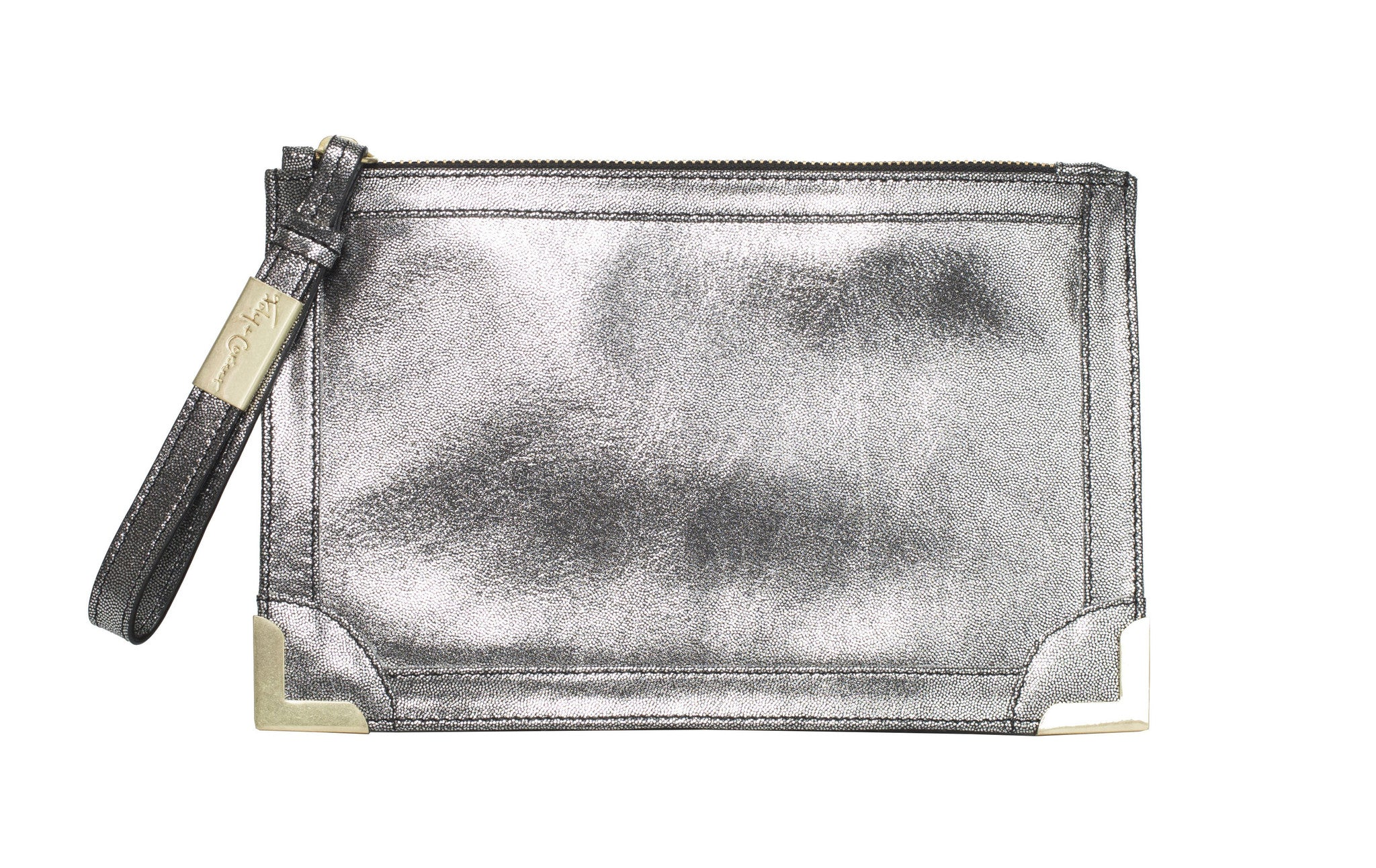 FRANKIE POUCH WRISTLET IN WASHED SILVER