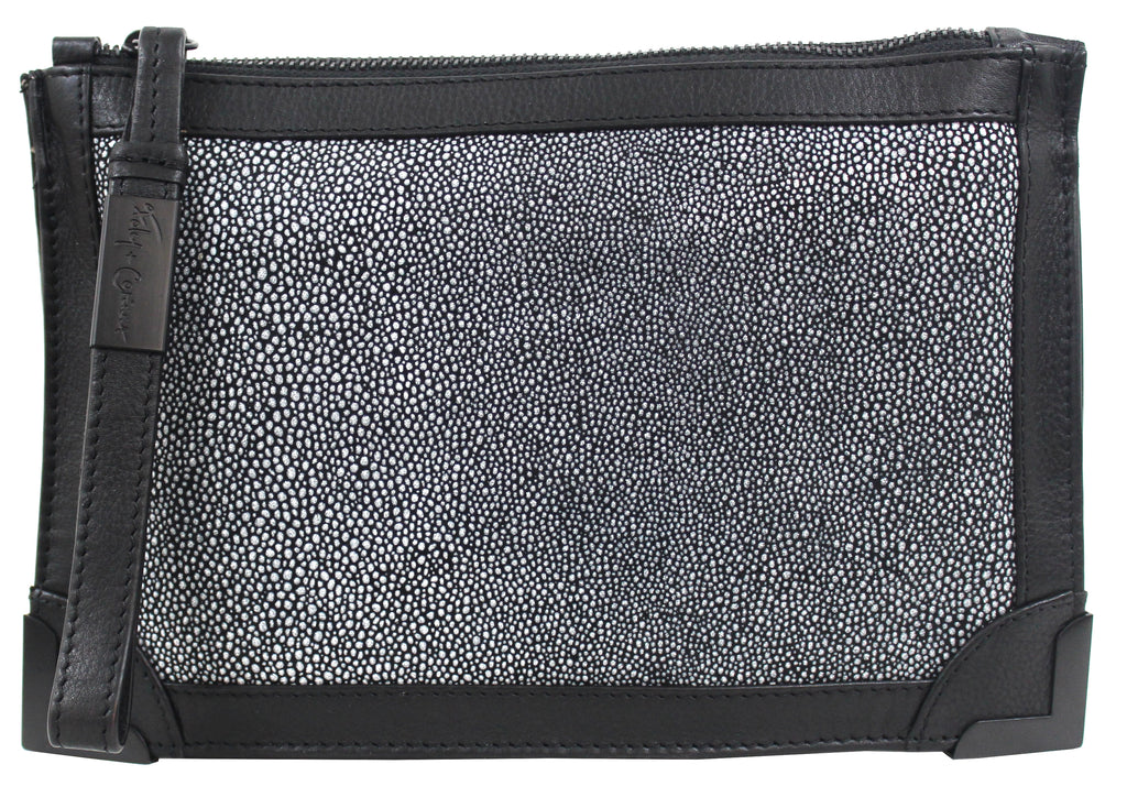 FRANKIE POUCH WRISTLET IN STINGRAY COMBO